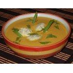 Суп-пюре из тыквы с куриными клецками