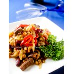 Мясо с имбирeм и грибами