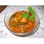 Бамия с рыбой в томатном соусе