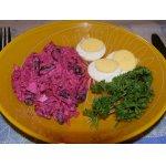 Салат из свеклы с копченой курицей