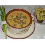 Оранжевый суп с тыквенными семечками и сырными тостами