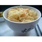 Спагетти с креветками в сливочно-винном соусе