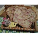 Хлеб с сыром и ветчиной
