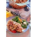 Куриные грудки на томатной сальсе, под  брынзой
