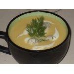 Суп-пюре из кольраби с куриными клецками