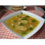 Кукурузный суп с яичными
