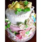 Роскошный Золотистый торт к юбилею свадьбы