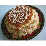 Салат «Сардинка с гренками»
