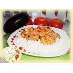 Курица с баклажанами под сливочным соусом