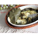 Филе рыбы, запечeнное в виноградных листьях