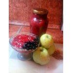 Варенье из яблок и черной рябины