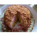 Торт-рулет с творожно-ежевичным кремом