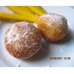 Творожно-тыквенные пончики с яблоком и манго