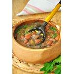 Тосканский грибной суп с фасолью (Zuppa di fagioli e funghi)