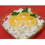 Салат с рыбой и апельсинами