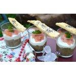 Веррины из чечевицы и лосося с хрустящими сырными палочками