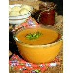 Суп-пюре из тыквы, чечевицы с картофельными клецками