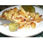 Картофель с колбасным сыром