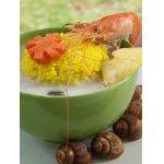 Том Кха с морепродуктами, шиитаке и шафрановым рисом