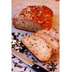 Хлеб с диким рисом и овсяными хлопьями
