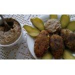 Картофельно-гречневые котлеты под грибным майонезом