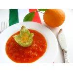 Фаршированные мальтальяти с томатно-апельсиновым соусом