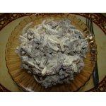 Салат из печенки с маринованным луком