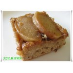 Перевeрнутый кекс с яблоками и грецкими орехами