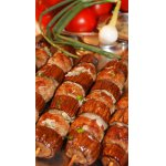 Сувлаки кебаб с баклажанами