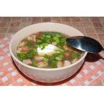 Суп из белых грибов с копченостями