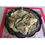 Манты, запечeнные с кабачками под сметанно-чесночным соусом