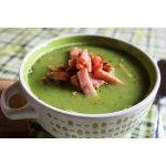 Суп с зелeным горошком и ветчиной