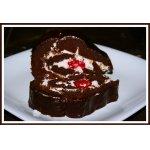 Шоколадный Рулет с Малиновой Начинкой