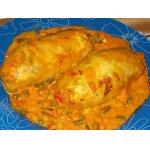 «Голубчики» с куриной грудкой и овощами