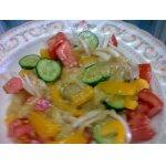 Салат с  печеным баклажаном