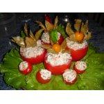 Фаршированные помидоры с творожно-рыбной начинкой + десерт