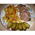 Свинина, запеченная с картофелем и луком