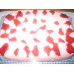 Творожно - йогуртовый десерт с клубникой