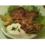 Драники со сметаной и лососем