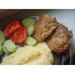 Куриные котлеты с печенью и яблоком