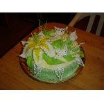 Средний ярус - торт Дамский каприз (курага, мак, вяленая клюква