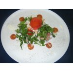 Салат из рукколы с крабом