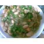 Бобы тушеные с овощами и морской капустой