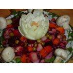 Винегрет со свеже-маринованными грибами