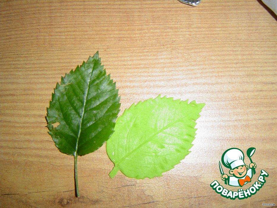 Листья из мастики пошагово
