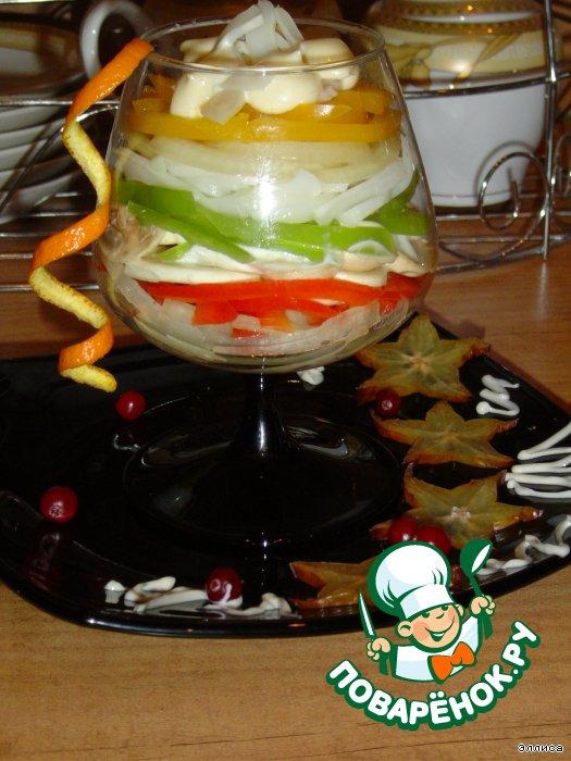 изысканные салат-коктейли из фруктов фото