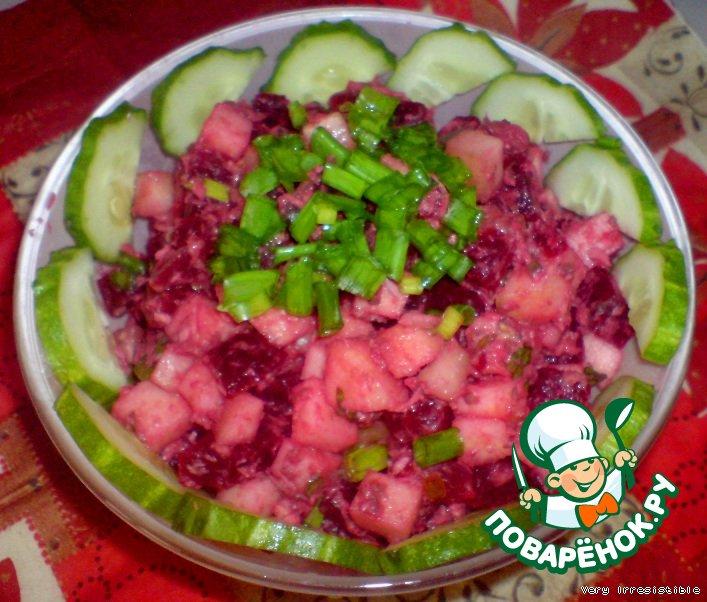 Салат с тунцом и свеклой рецепт очень вкусный