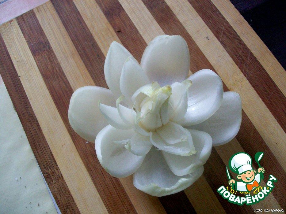 Как сделать цветок из лука видео фото 525