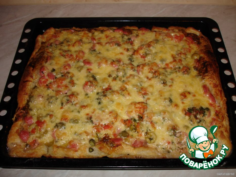 пицца из дрожжевого теста рецепт с фото пошагово в духовке
