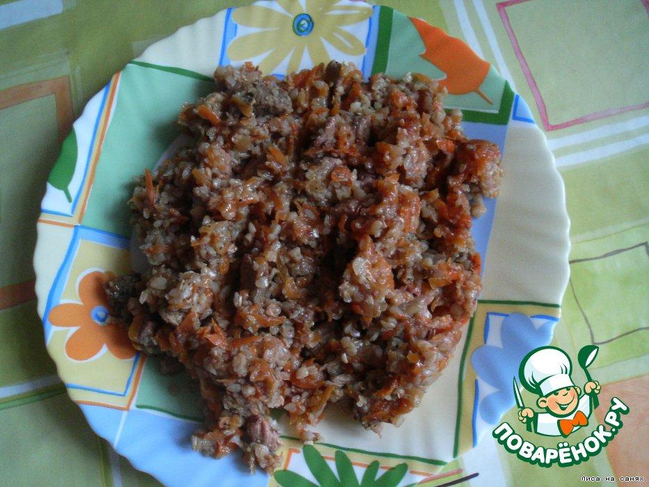 гречка с индейкой рецепт с фото пошагово